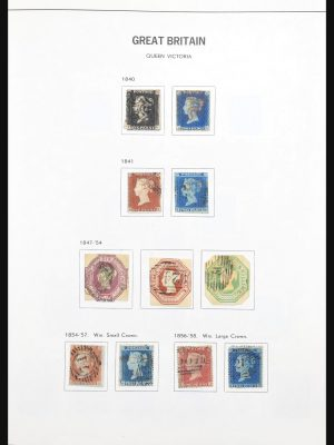 Stamp collection 30836 Great Britain 1840-1978.