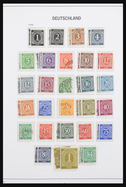 Stamp collection 30838 German Zones 1946-1949.