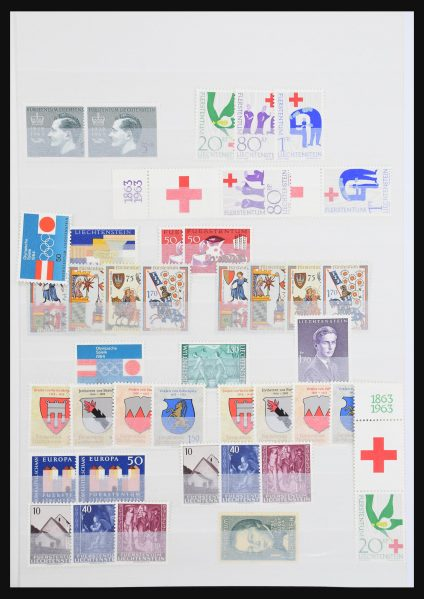 Stamp collection 30856 Liechtenstein 1963-1990.