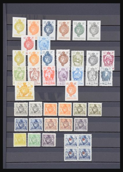 Stamp collection 30857 Liechtenstein 1920-1972.