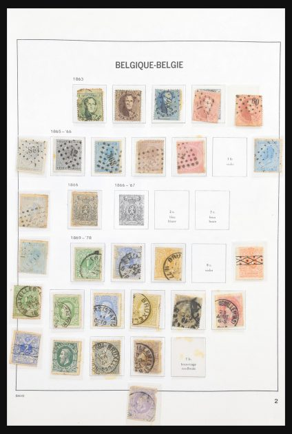 Stamp collection 30863 Belgium 1850-1997.