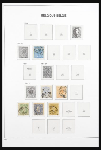 Stamp collection 30873 Belgium 1865-1969.