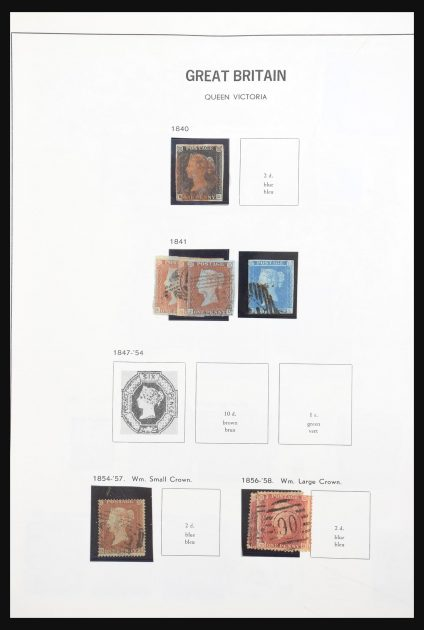 Stamp collection 30895 Great Britain and Channel Islands 1840-1977.
