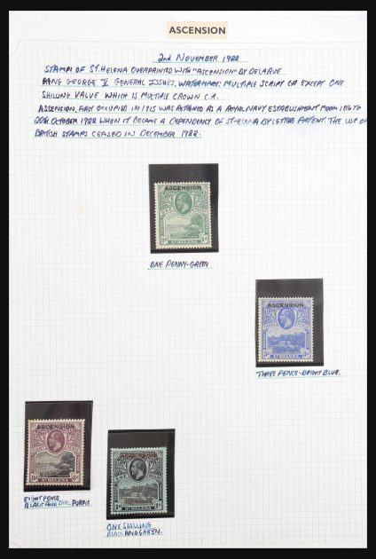 Stamp collection 30899 British Atlantic Islands 1863-1981.
