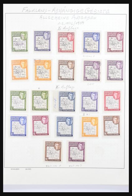Stamp collection 30900 Falkland Dependencies 1946-1989.