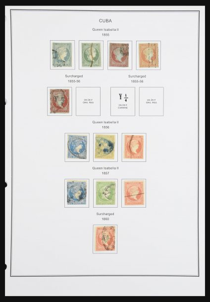 Stamp collection 30943 Cuba 1855-1996.
