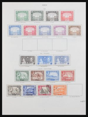 Stamp collection 30955 Great Britain and colonies 1937-1951.