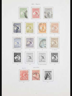 Stamp collection 30963 Australia 1913-1990.