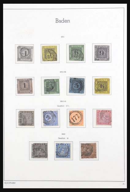 Stamp collection 30973 Old German States 1849-1920.