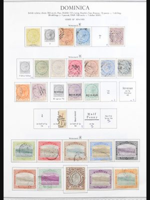 Stamp collection 30974 Dominica 1874-1985.