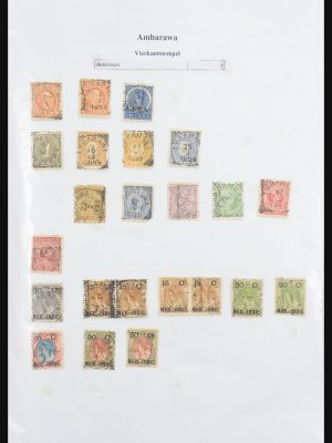 Stamp collection 30981 Dutch east Indies square cancels.