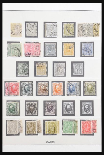 Stamp collection 30993 Luxembourg 1852-2014.