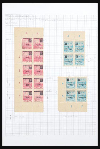 Stamp collection 30999 Dutch east Indies interimperiod 1945-1949.