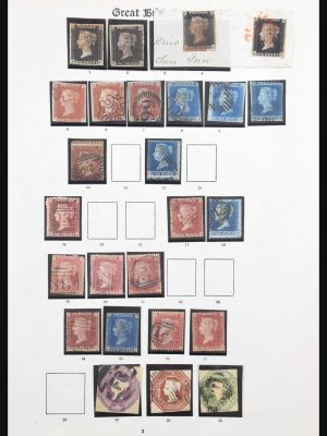 Stamp collection 31004 Great Britain 1840-1935.