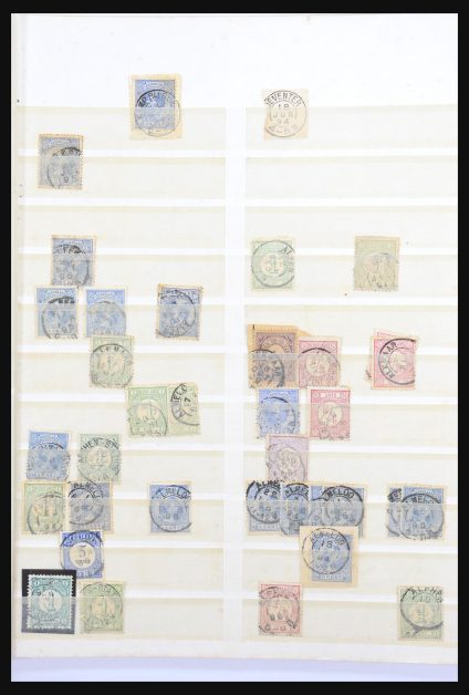 Stamp collection 31007 Netherlands smallround cancels.