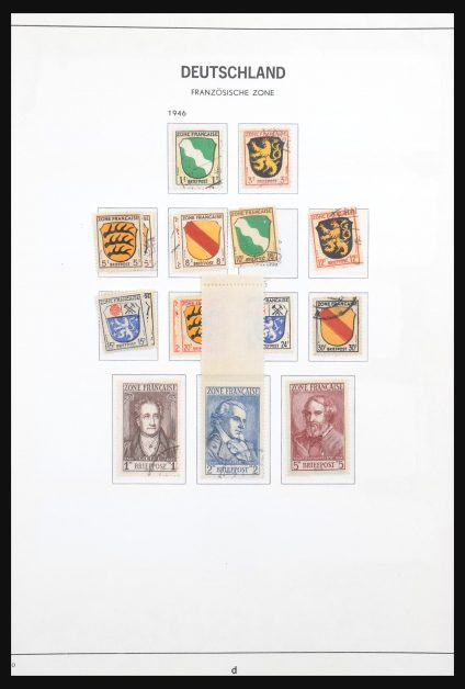 Stamp collection 31011 French Zone 1946-1949.