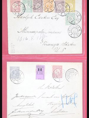 Stamp collection 31014 Netherlands covers 1891-1898.