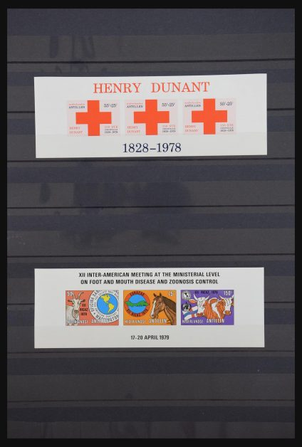 Stamp collection 31023 Netherlands Antilles IMPERFORATED 1978-1999.
