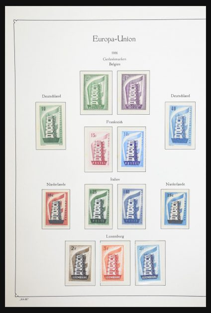 Stamp collection 31029 Europa CEPT 1956-2007.