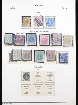 Stamp collection 31053 Serbia 1866-1945.