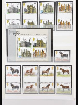 Stamp collection 31079 Great Britain gutterpairs 1980-1999.