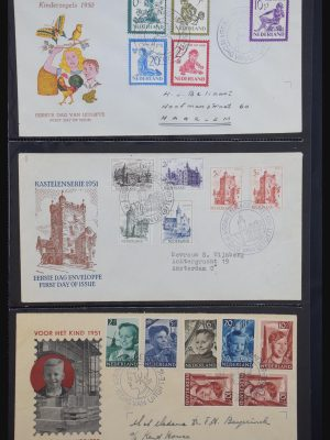 Stamp collection 31098 Netherlands FDC's 1950-2015.