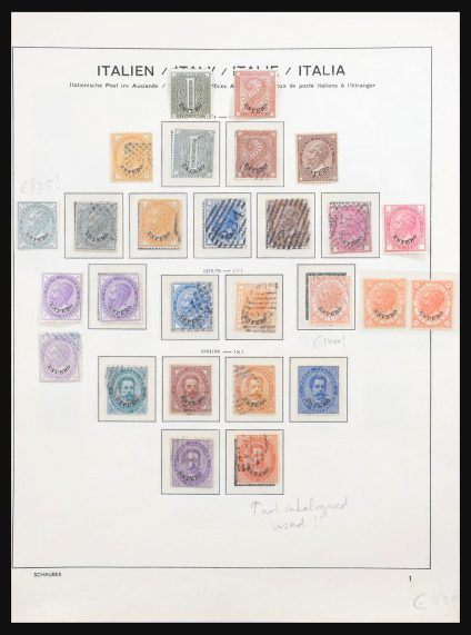 Stamp collection 31104 Italian postoffices abroad 1874-1923.