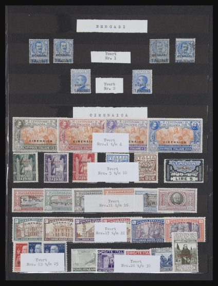 Stamp collection 31114 Italian territories 1906-1941.