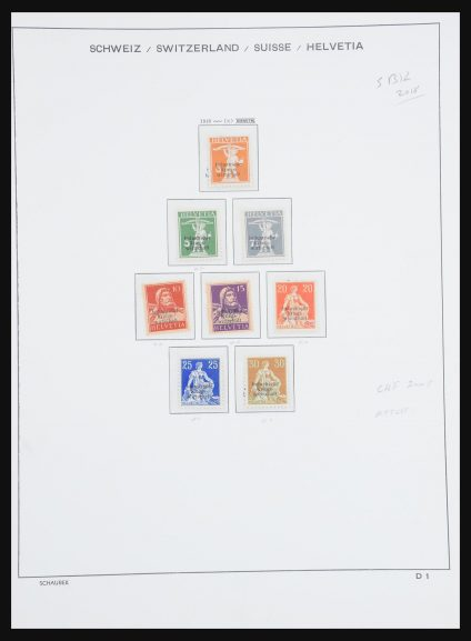 Stamp collection 31115 Switzerland service 1918-1960.