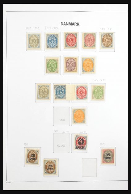 Stamp collection 31134 Denmark 1875-1994.