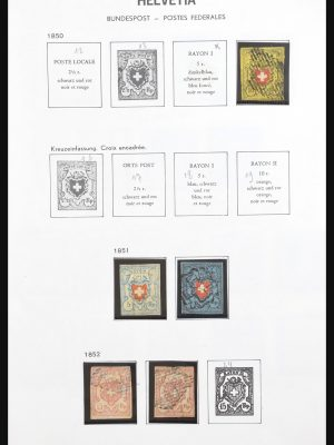 Stamp collection 31156 Switzerland 1845-1976.