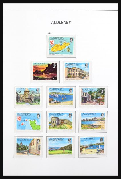 Stamp collection 31167 Alderney 1983-2013.