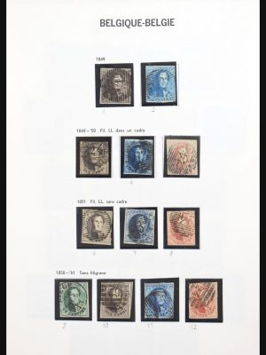 Stamp collection 31178 Belgium 1849-1951.