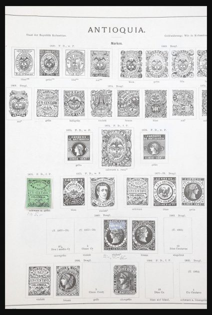 Stamp collection 31195 South America 1850-1900.