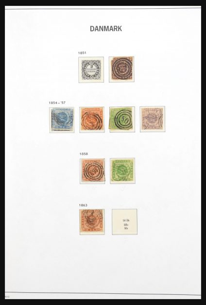 Stamp collection 31199 Denmark 1851-1998.