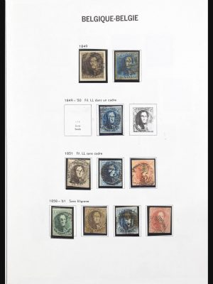 Stamp collection 31204 Belgium 1849-2006.