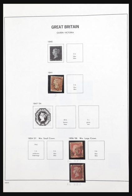 Stamp collection 31205 Great Britain 1841-1984.