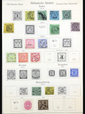 Stamp collection 31228 Germany and territories 1850-1945.