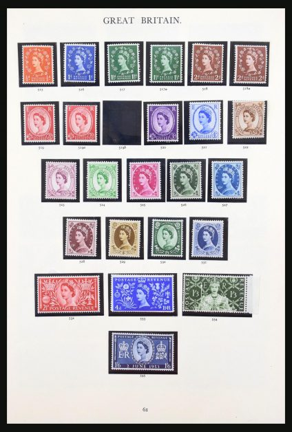 Stamp collection 31240 Great Britain 1952-2000.