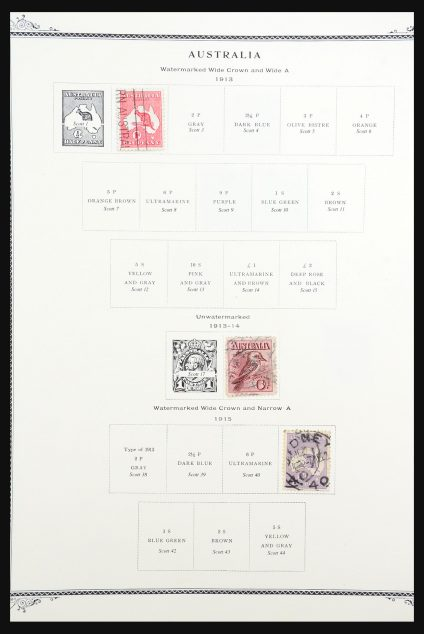 Stamp collection 31255 British colonies in the Pacific 1913-1975.