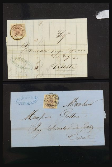 Stamp collection 31262 Austria and Germany covers 1850-1874.