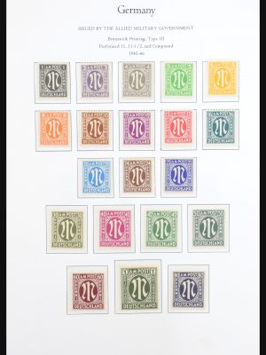 Stamp collection 31265 German Zones 1945-1949.