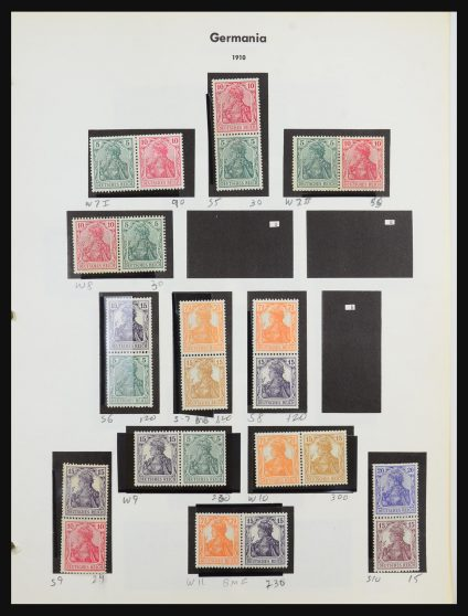 Stamp collection 31267 Germany combinations 1910-1989.