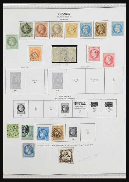Stamp collection 31289 France and colonies 1862-1992.