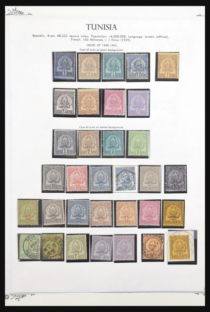 Stamp collection 31308 Tunisia 1888-1967.