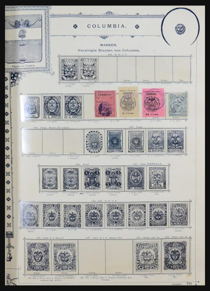 Stamp collection 31321 South America 1853-1985.