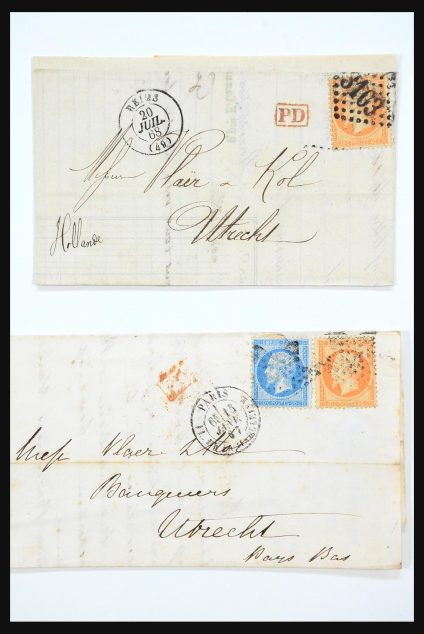 Stamp collection 31359 France and Colonies covers 1770-1960.