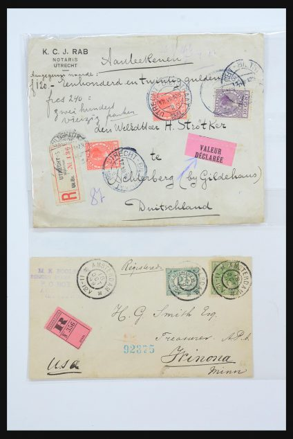 Stamp collection 31360 Netherlands covers 1852-1960.