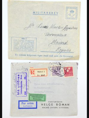 Stamp collection 31364 Sweden covers 1864-1960.