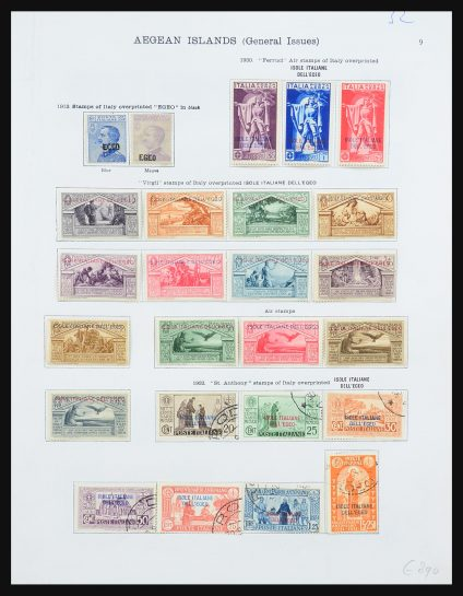 Stamp collection 31367 Italian Aegean Islands 1913-1934.